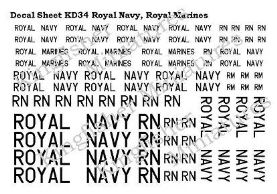 Royal Navy & Royal Marines Lettering - Black